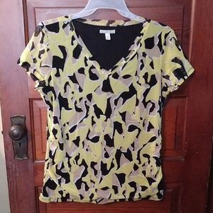 Dana Buchman V Neck Summer Top size XL